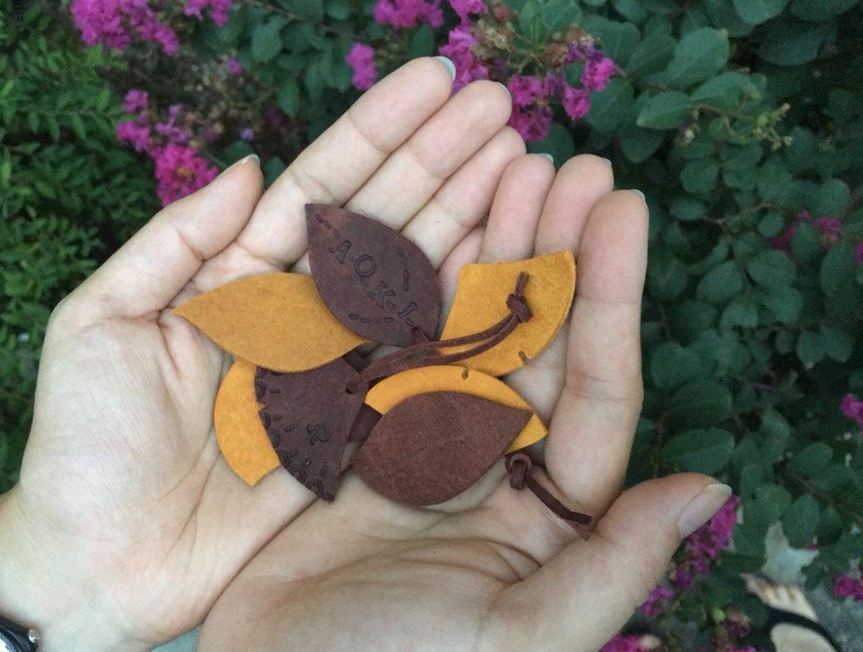 ワークショップ【秋の葉っぱのネームタグ】