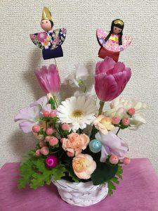 キッズ花育レッスン〜ひな祭りアレンジ作り〜